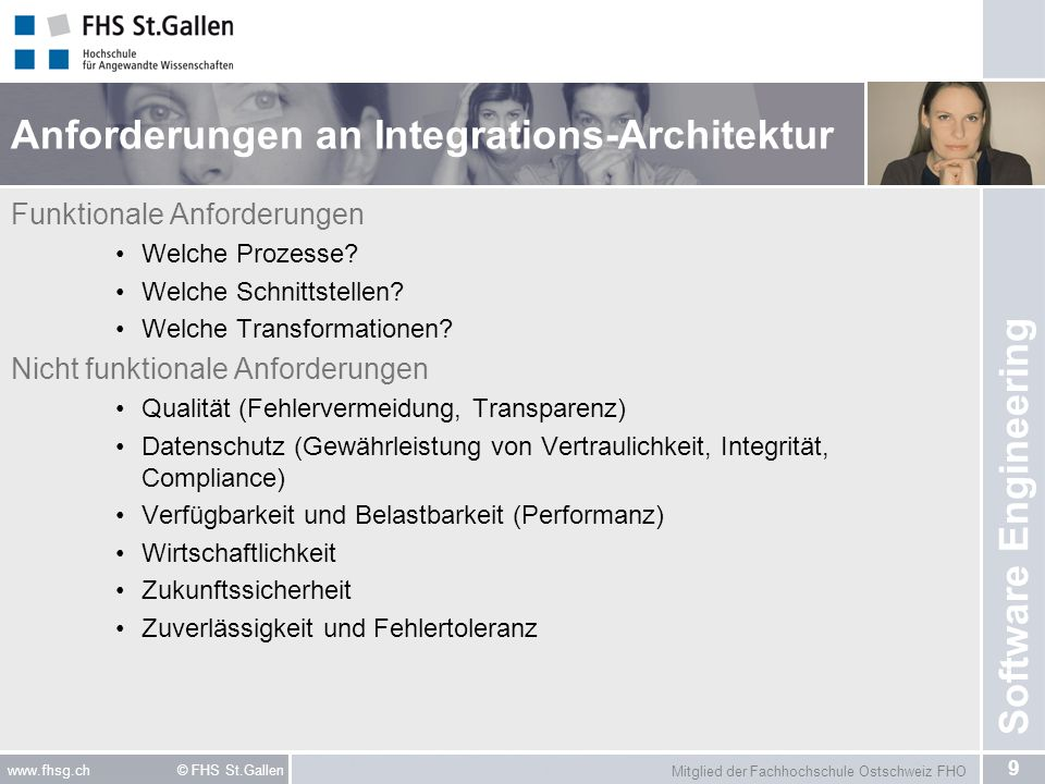 Anforderungen an Integrations-Architektur