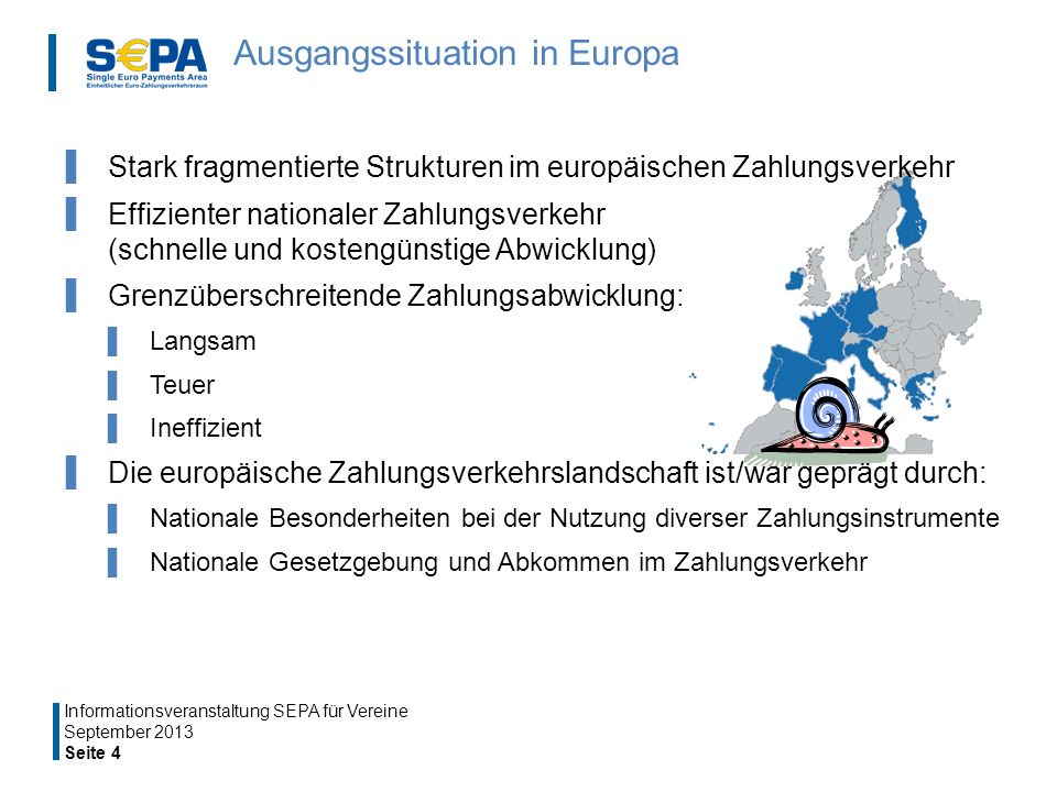 Ausgangssituation in Europa