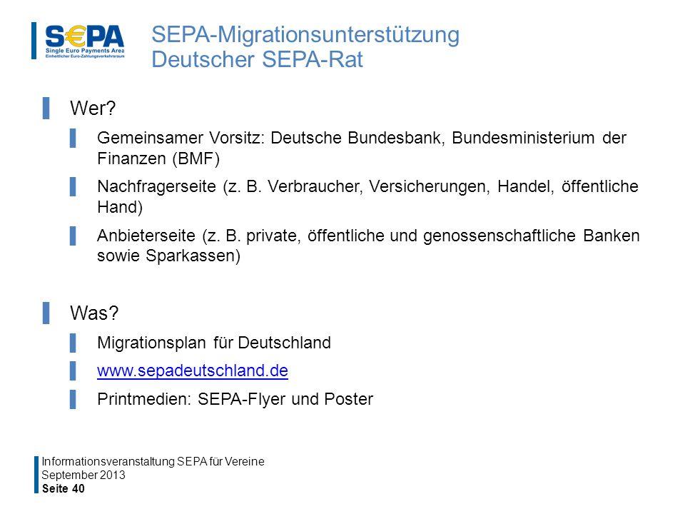 SEPA-Migrationsunterstützung Deutscher SEPA-Rat
