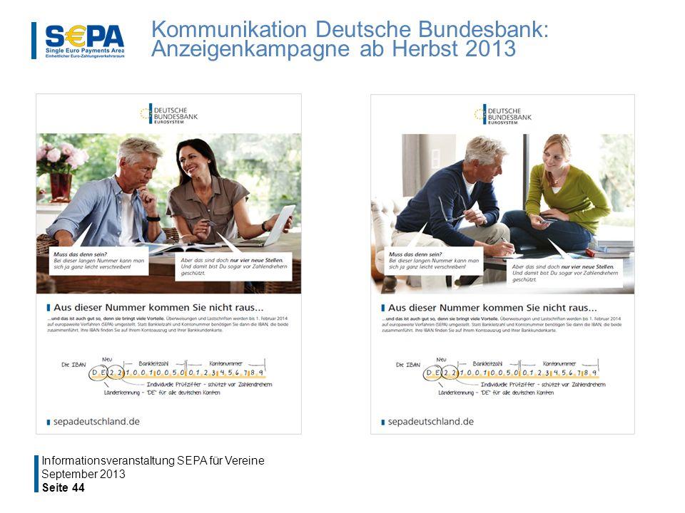 Kommunikation Deutsche Bundesbank: Anzeigenkampagne ab Herbst 2013