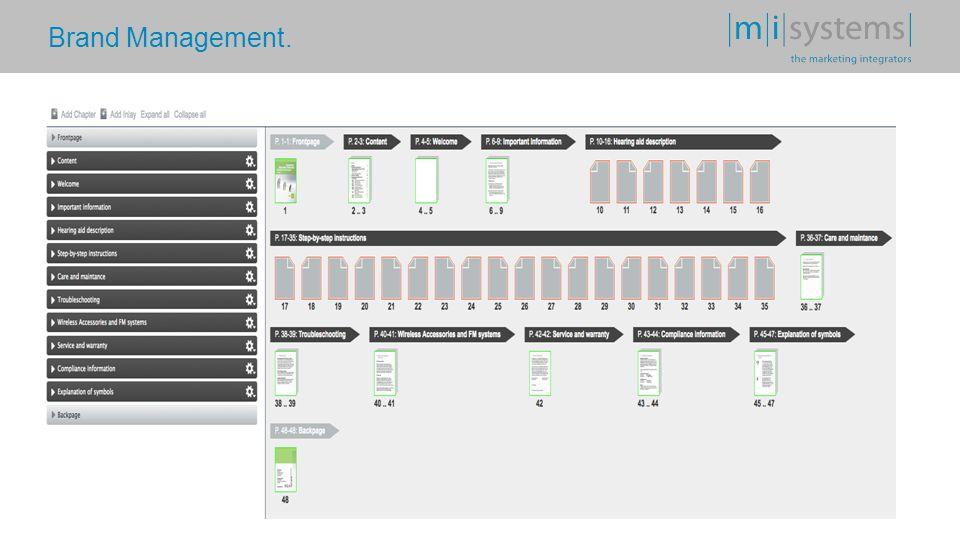 Die Umsetzungslösung. Brand Management (web-to-print) Lösung mit integrierter Workflow Steuerung