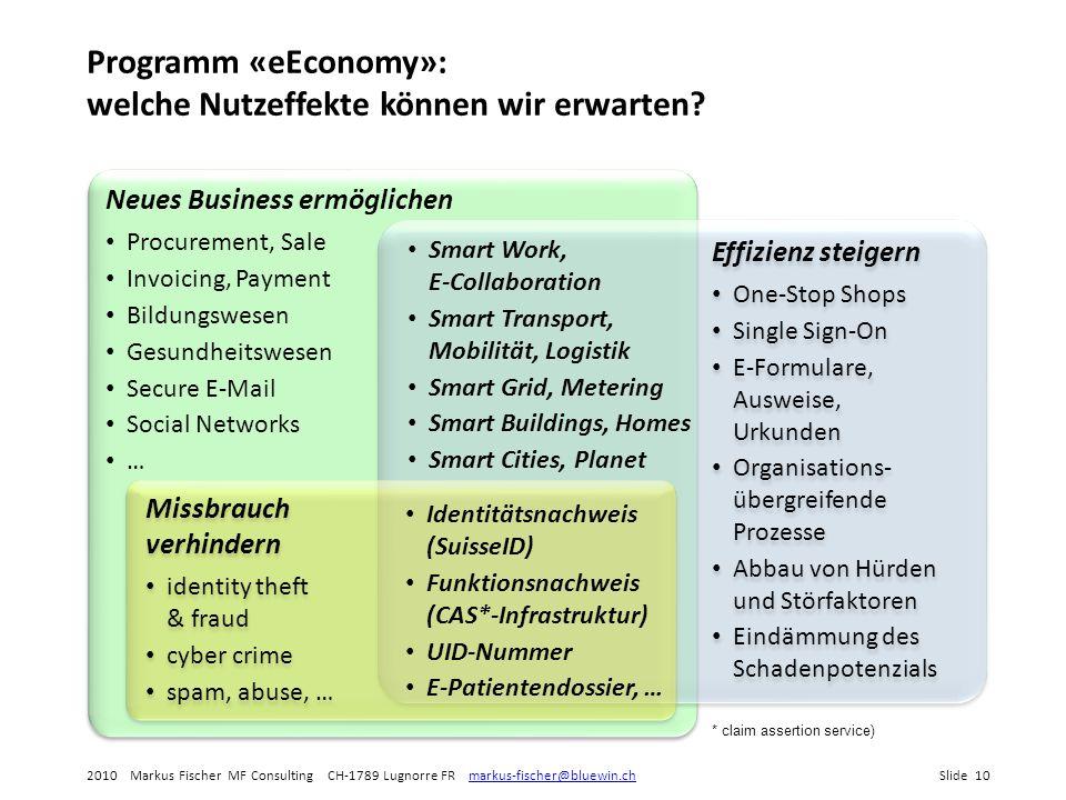 Programm «eEconomy»: welche Nutzeffekte können wir erwarten