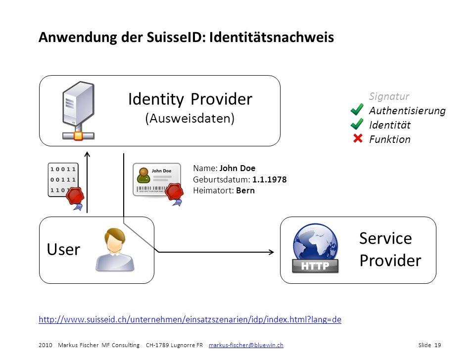 Identity Provider (Ausweisdaten)