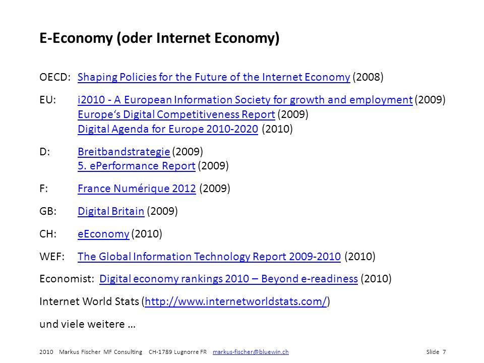 E-Economy (oder Internet Economy)