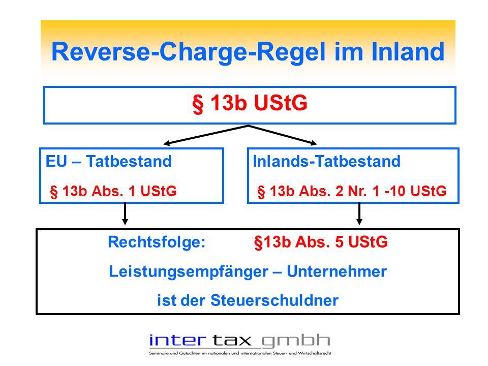 Reverse-Charge-Regel im Inland