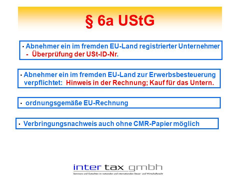§ 6a UStG - Überprüfung der USt-ID-Nr.