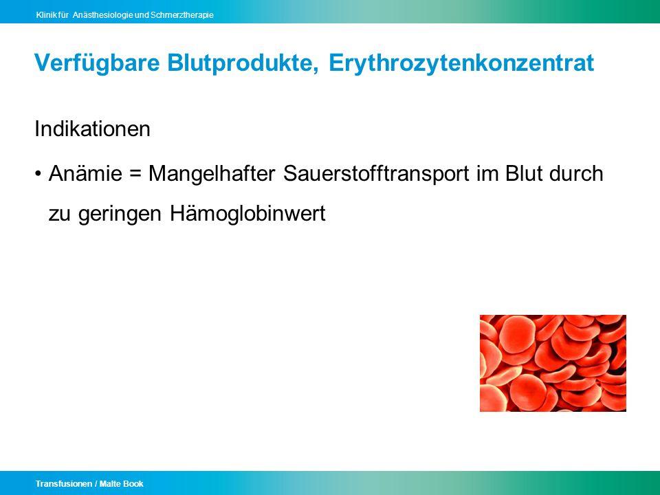 Verfügbare Blutprodukte, Erythrozytenkonzentrat
