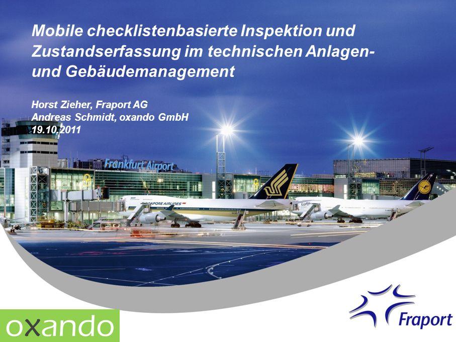 Mobile checklistenbasierte Inspektion und Zustandserfassung im technischen Anlagen- und Gebäudemanagement
