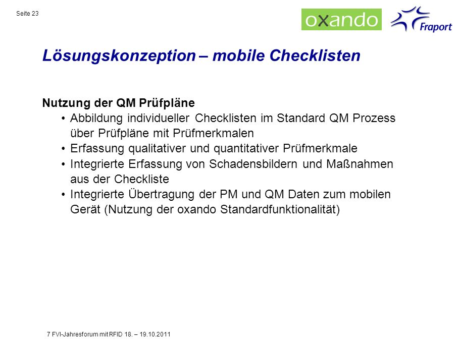 Lösungskonzeption – mobile Checklisten