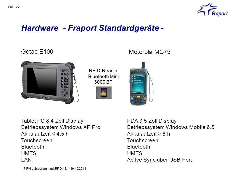 Hardware - Fraport Standardgeräte -