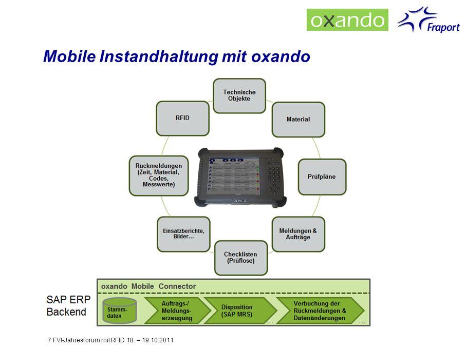 Mobile Instandhaltung mit oxando