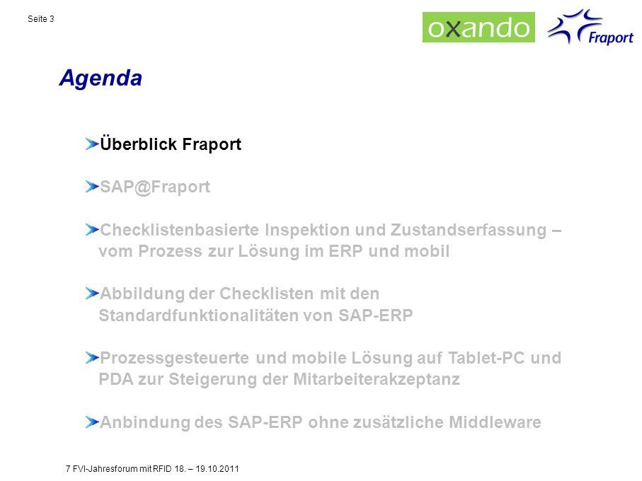 Agenda Überblick Fraport SAP@Fraport