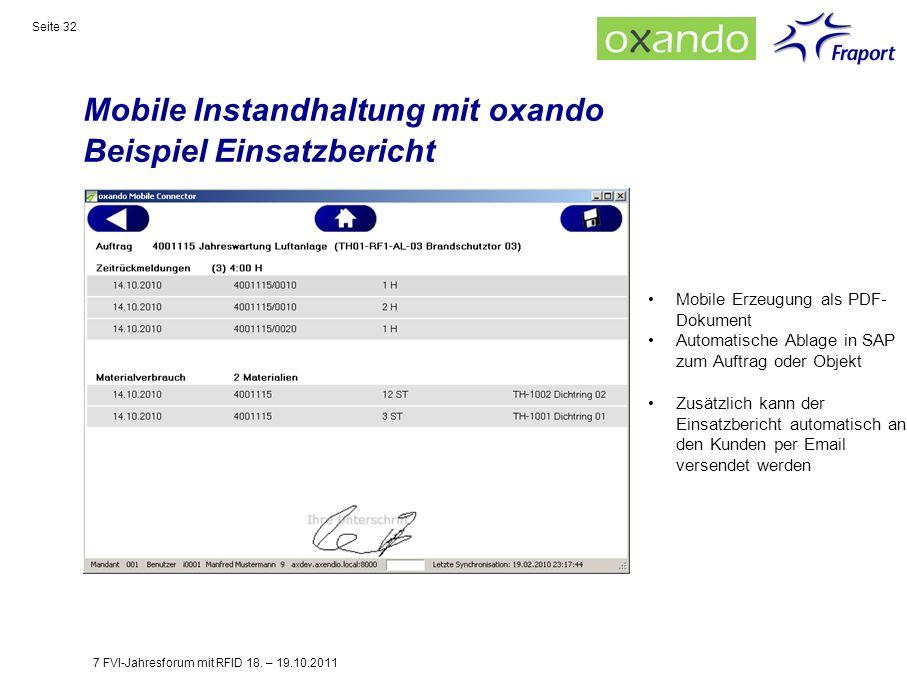 Mobile Instandhaltung mit oxando Beispiel Einsatzbericht