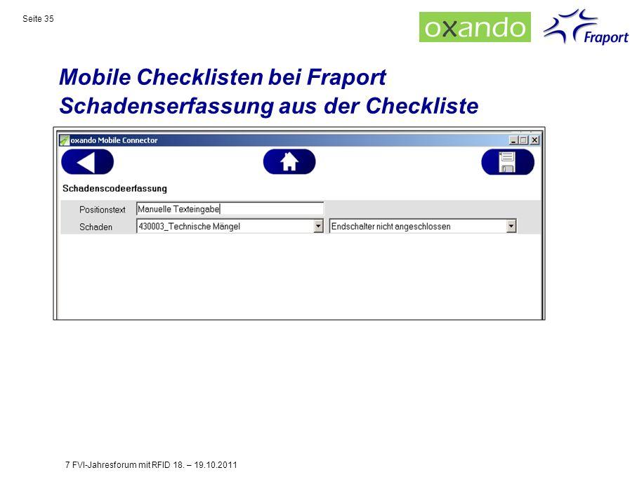 Mobile Checklisten bei Fraport Schadenserfassung aus der Checkliste