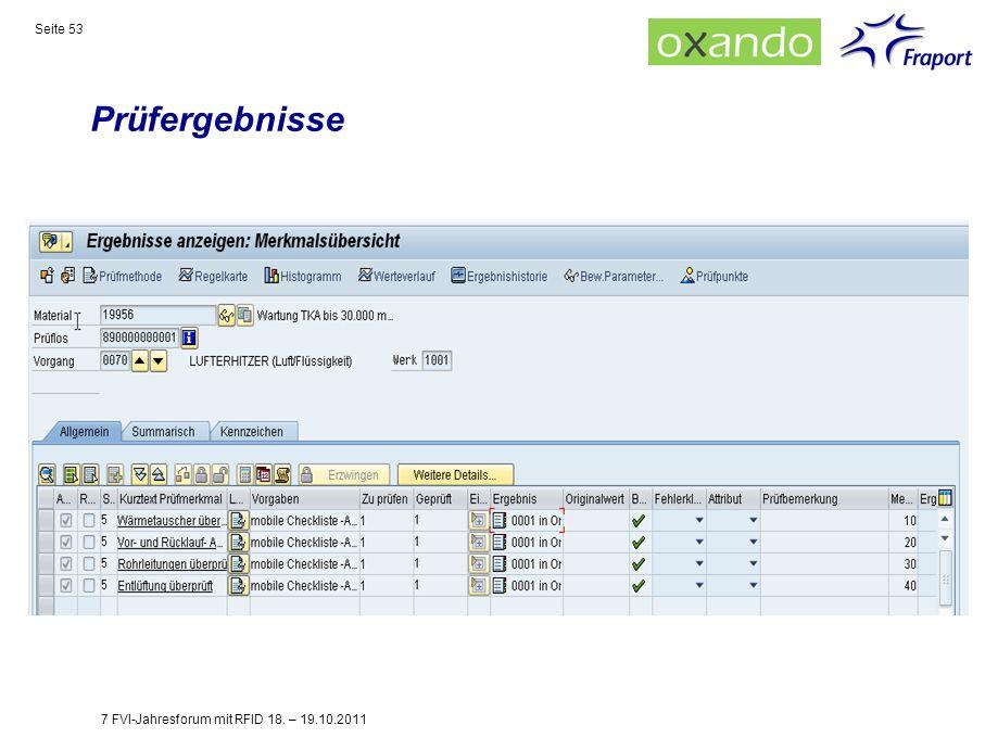 Prüfergebnisse 7 FVI-Jahresforum mit RFID 18. – 19.10.2011