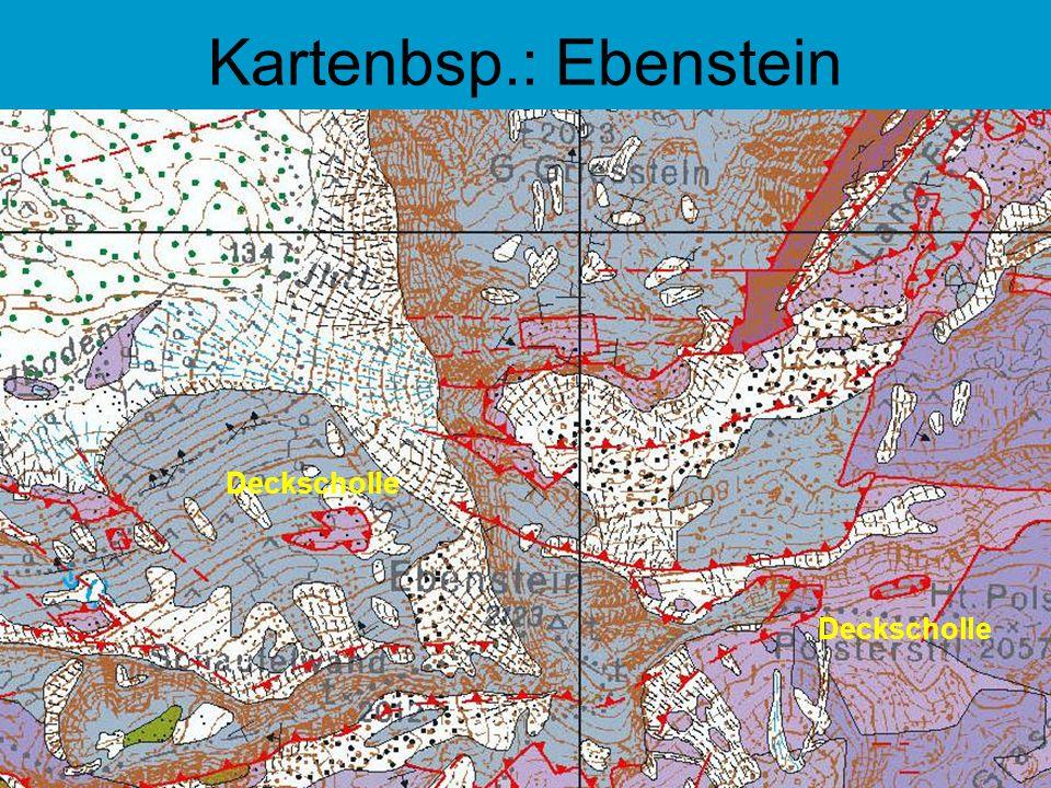 Kartenbsp.: Ebenstein Deckscholle Deckscholle