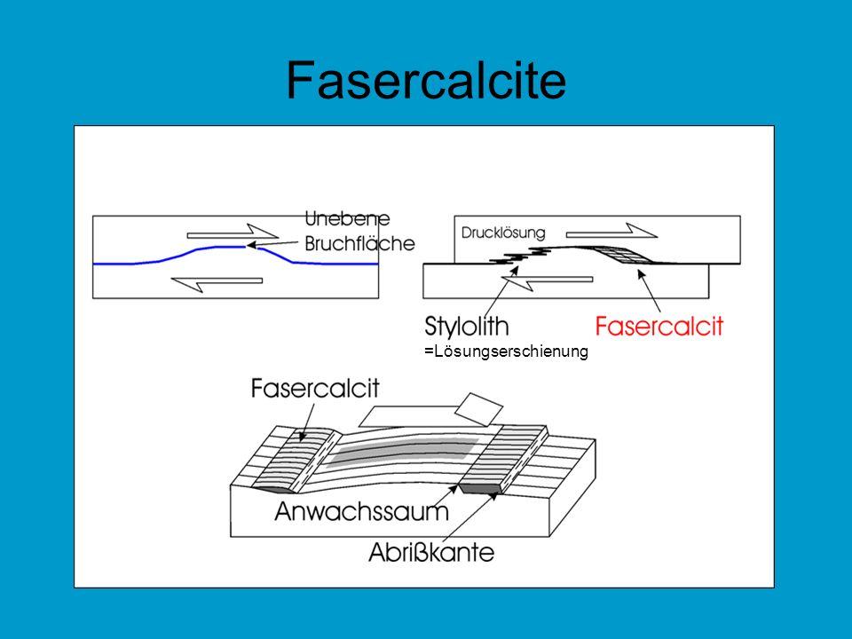 Fasercalcite =Lösungserschienung