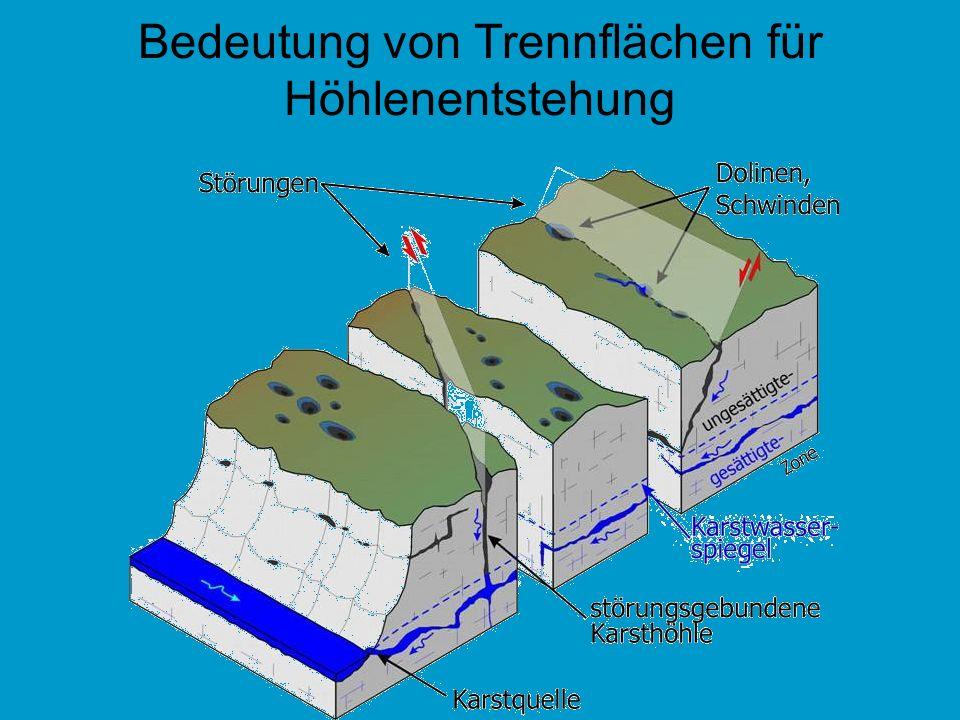 Bedeutung von Trennflächen für Höhlenentstehung