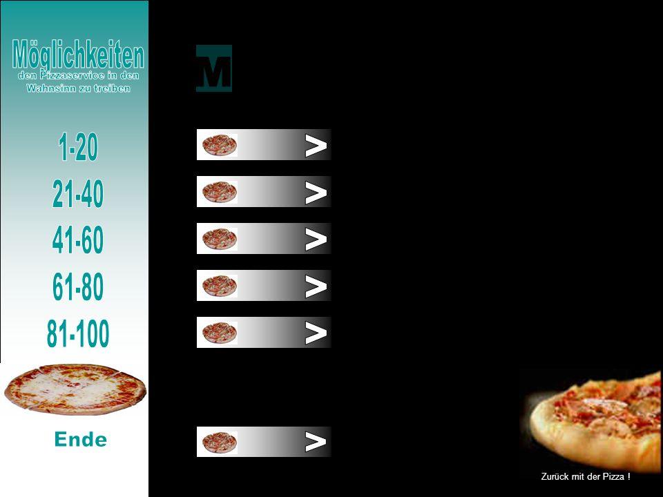 den Pizzaservice in den