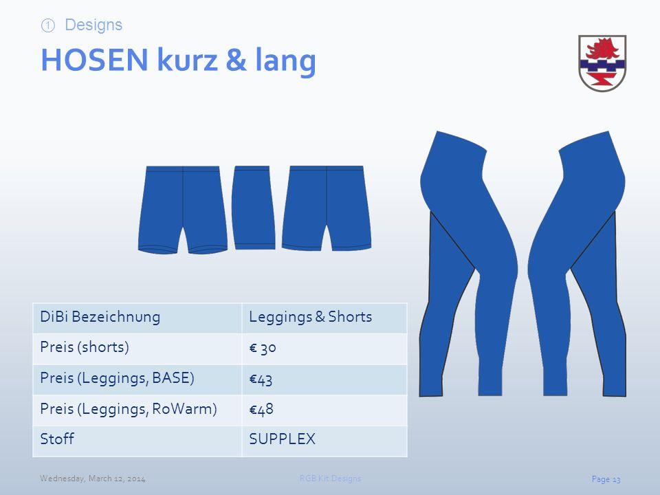 HOSEN kurz & lang Designs DiBi Bezeichnung Leggings & Shorts