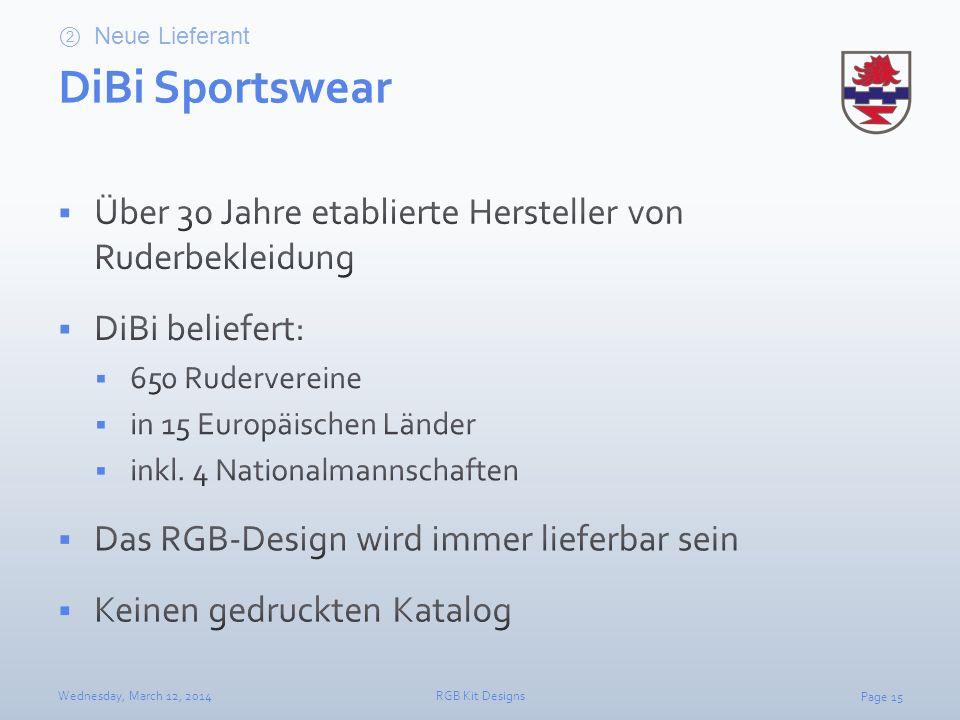 Neue Lieferant DiBi Sportswear. Über 30 Jahre etablierte Hersteller von Ruderbekleidung. DiBi beliefert: