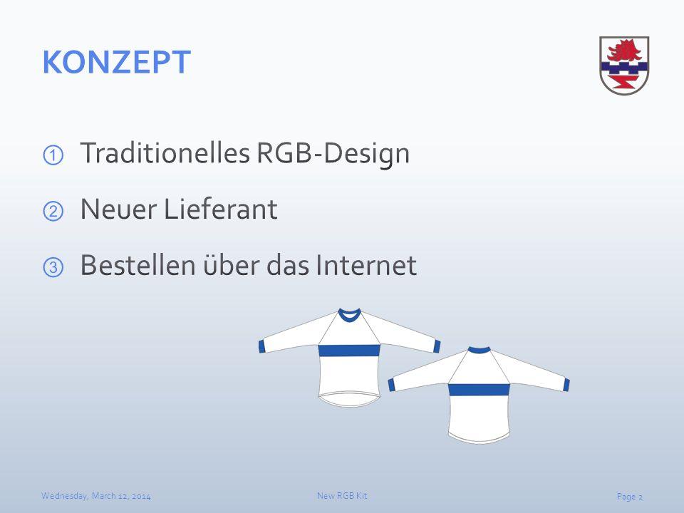 KONZEPT Traditionelles RGB-Design Neuer Lieferant