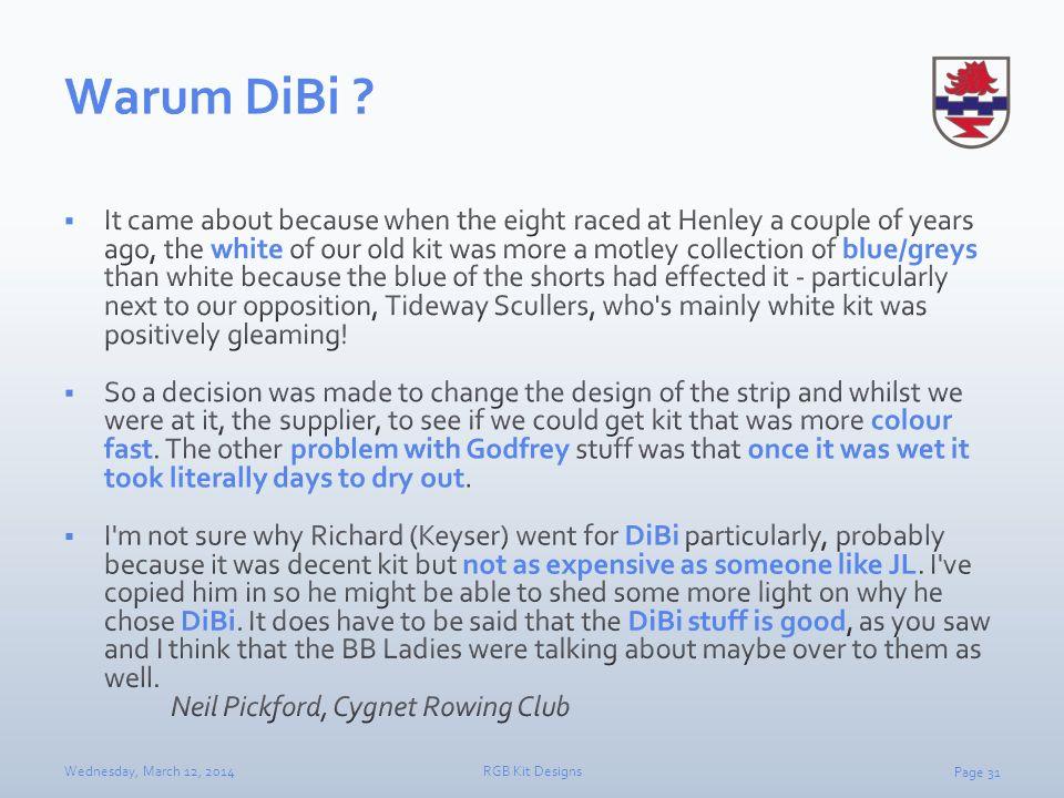 Warum DiBi