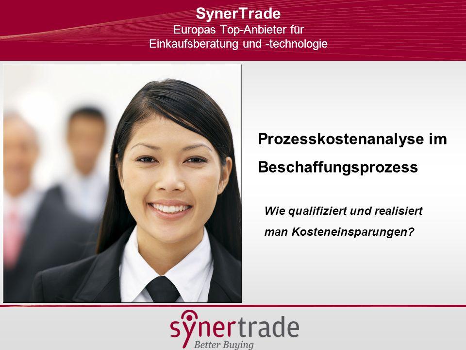 SynerTrade Europas Top-Anbieter für Einkaufsberatung und -technologie
