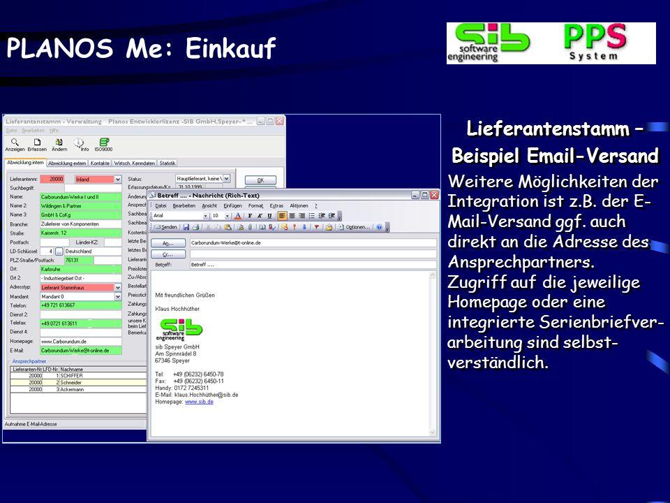 Beispiel Email-Versand