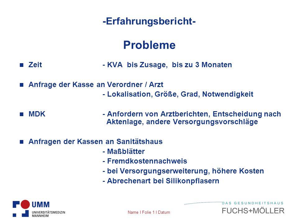 Probleme -Erfahrungsbericht- Zeit - KVA bis Zusage, bis zu 3 Monaten