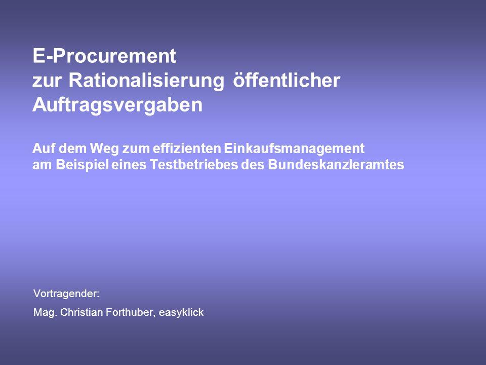 Vortragender: Mag. Christian Forthuber, easyklick