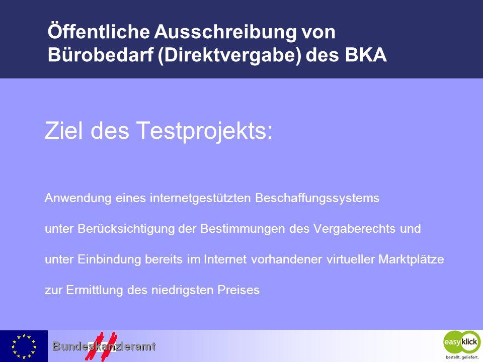 Öffentliche Ausschreibung von Bürobedarf (Direktvergabe) des BKA