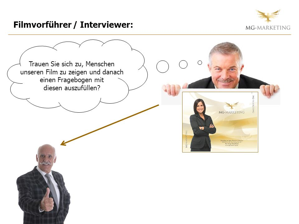Filmvorführer / Interviewer: