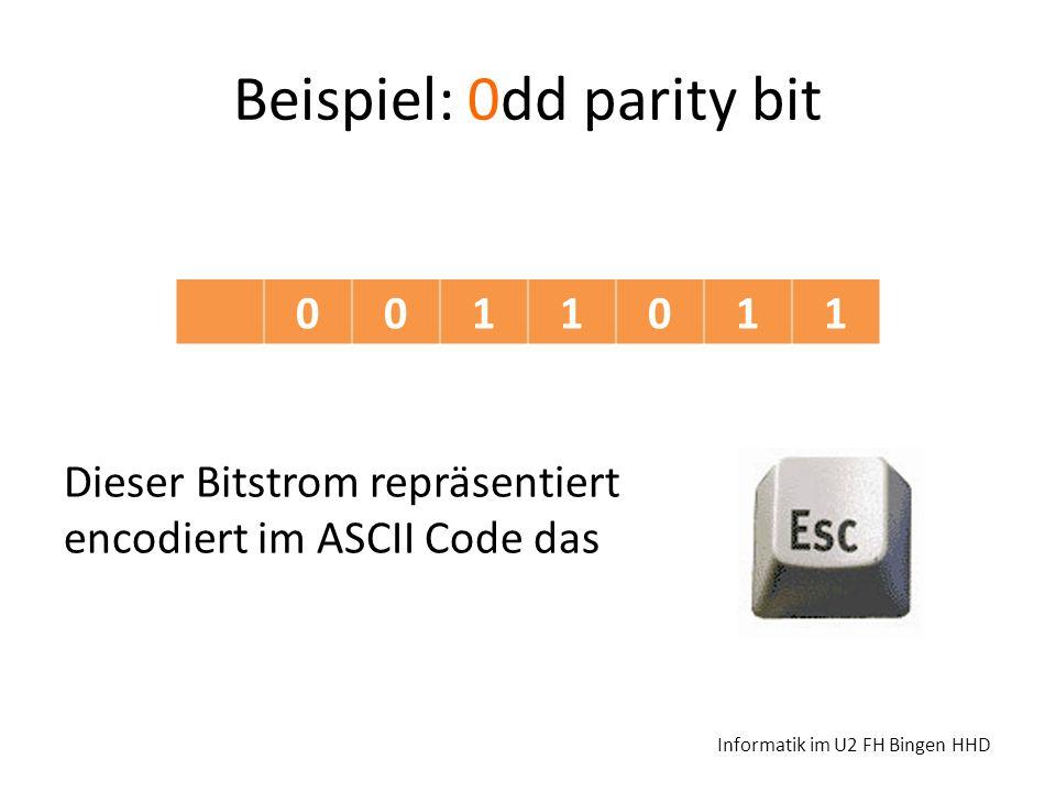 Beispiel: 0dd parity bit