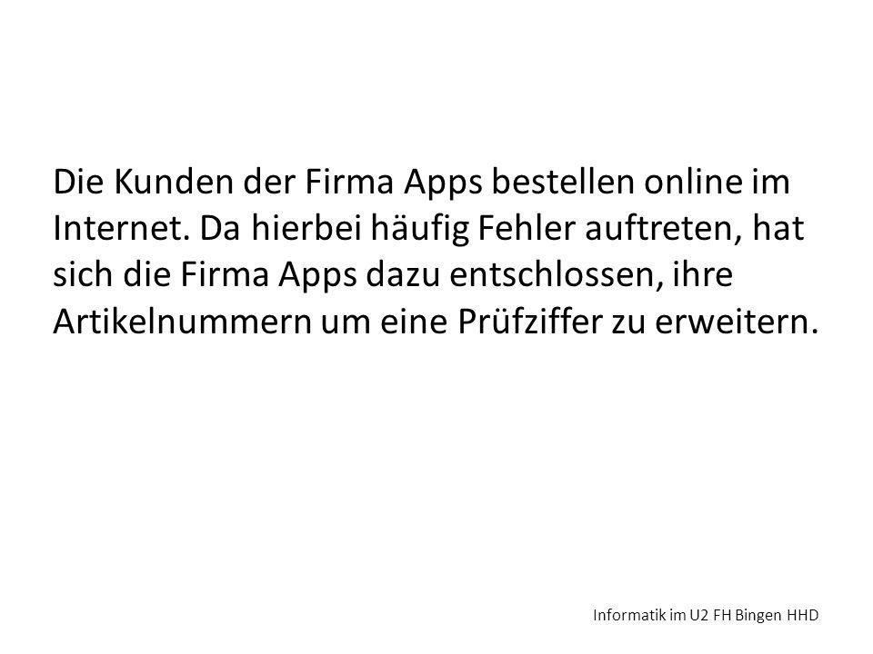 Die Kunden der Firma Apps bestellen online im Internet