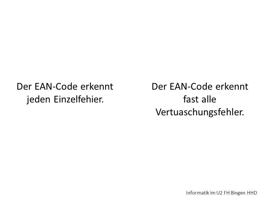 Der EAN-Code erkennt fast alle Vertuaschungsfehler.