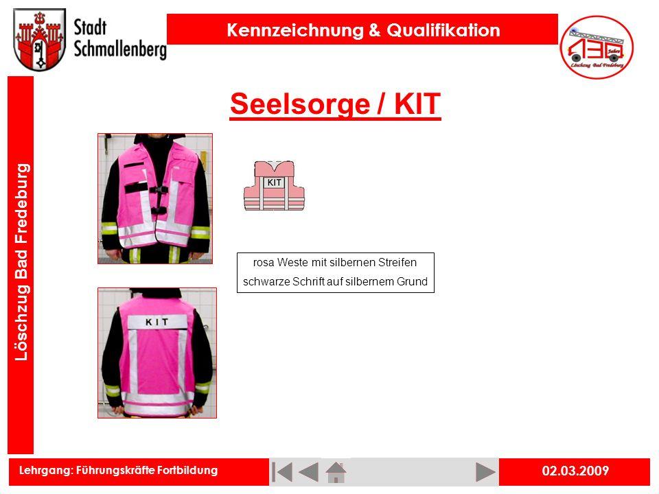 Seelsorge / KIT 02.03.2009 rosa Weste mit silbernen Streifen