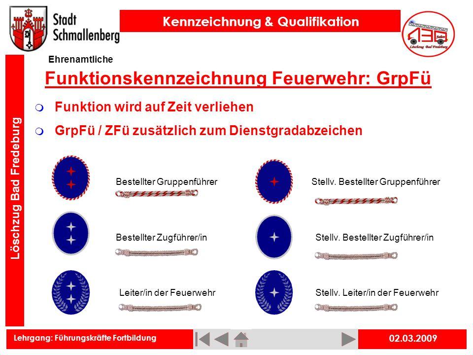 Funktionskennzeichnung Feuerwehr: GrpFü