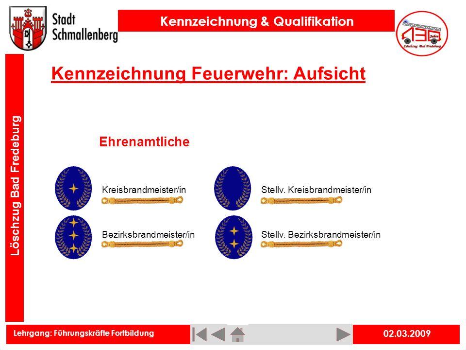 Kennzeichnung Feuerwehr: Aufsicht