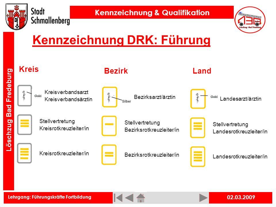 Kennzeichnung DRK: Führung