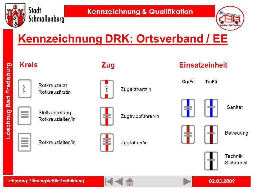 Kennzeichnung DRK: Ortsverband / EE