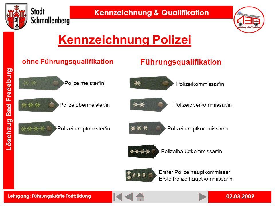 Kennzeichnung Polizei