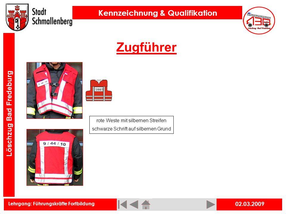 Zugführer 02.03.2009 rote Weste mit silbernen Streifen