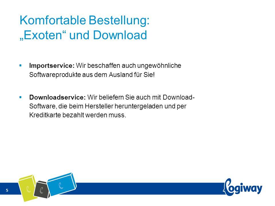 """Komfortable Bestellung: """"Exoten und Download"""
