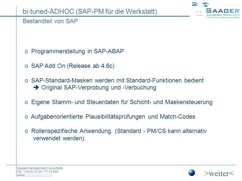 >weiter< Bestandteil von SAP Programmerstellung in SAP-ABAP