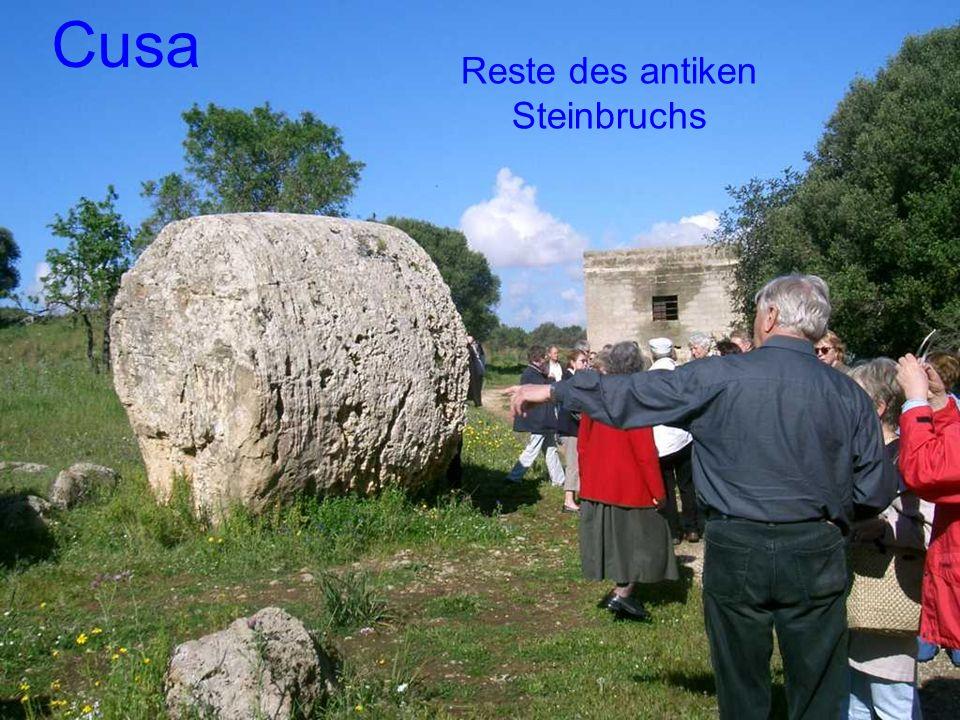 Cusa Reste des antiken Steinbruchs