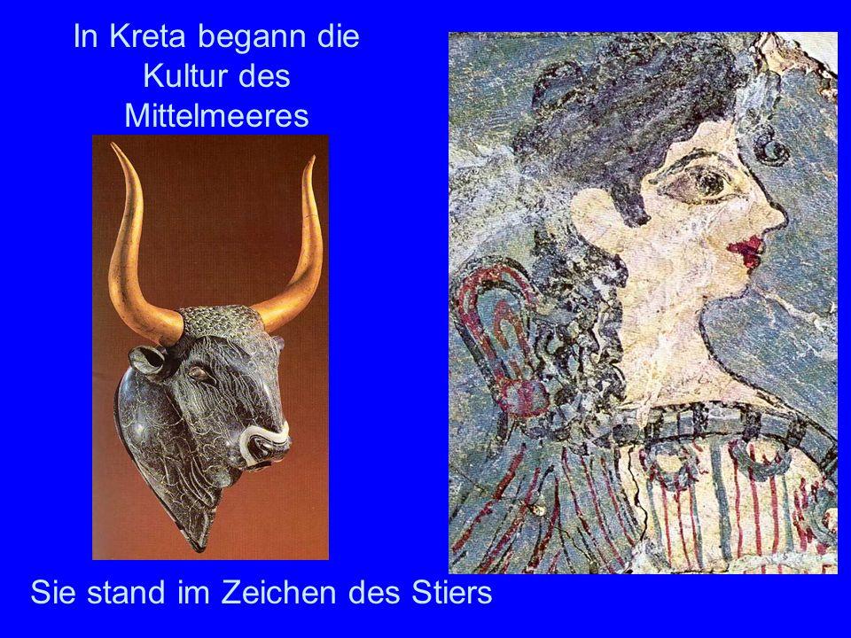 In Kreta begann die Kultur des Mittelmeeres