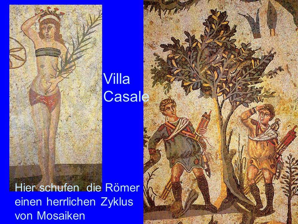 Villa Casale Hier schufen die Römer einen herrlichen Zyklus