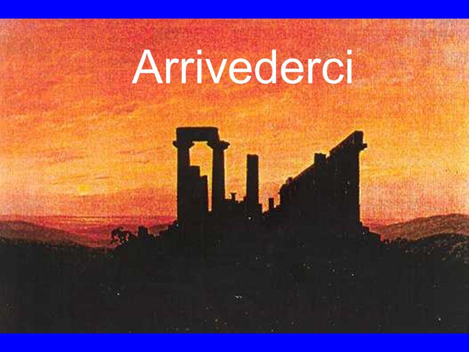 """Arrivederci Gemälde von Caspar David Friedrich """"Der Juno-Tempel in Agrigent"""