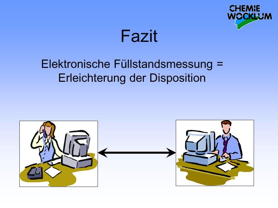 Elektronische Füllstandsmessung = Erleichterung der Disposition